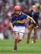 14 August 2016; Grace Ní Chongaile, Gaelscoil na Bóinne, Trim, Co Meath, representing Tipperary, during the INTO Cumann na mBunscol GAA Respect Exhibition Go Games at the GAA Hurling All-Ireland Senior Championship Semi-Final game between Galway and Tipperary at Croke Park, Dublin. Photo by Ray McManus/Sportsfile