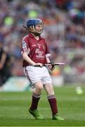 14 August 2016; Éadaoin Ó Snodaigh, Gaelscoil Inse Chór, Áth Cliath, representing Galway, during the INTO Cumann na mBunscol GAA Respect Exhibition Go Games at the GAA Hurling All-Ireland Senior Championship Semi-Final game between Galway and Tipperary at Croke Park, Dublin. Photo by Ray McManus/Sportsfile