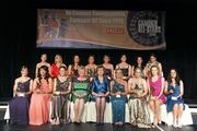 6 November 2010; The 2010 Camogie All-Star team, with President of the Camogie Association Joan O' Flynn and President Mary McAleese, back row, from left, Orla Kilkenny, Galway, Anna Geary, Cork, Mary Leacy, Wexford, Regina Glynn, Galway, Niamh Kilkenny, Galway, Catherine O'Loughlin, Wexford, Claire O'Connor, Wexford, and Mags D'Arcy, Wexford, with front row, from left, Kate Kelly, Wexford, Una Leacy, Wexford, Brenda Hanney, Galway, Katrina Parrock, Wexford, Ursula Jacob, Wexford, Aislinn Connolly, Galway, and Anne Dalton, Kilkenny, at the 2010 Camogie All-Stars in association with O'Neills. Citywest Hotel, Saggart, Co. Dublin. Picture credit: Stephen McCarthy / SPORTSFILE