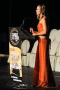 6 November 2010; MC Evanne Ni Chuilinn during the 2010 Camogie All-Stars in association with O'Neills. Citywest Hotel, Saggart, Co. Dublin. Picture credit: Stephen McCarthy / SPORTSFILE