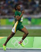 18 August 2016; Caster Semenya of South Africa competes in the Women's 800m semi-finals in the Olympic Stadium, Maracanã, during the 2016 Rio Summer Olympic Games in Rio de Janeiro, Brazil. Photo by Brendan Moran/Sportsfile