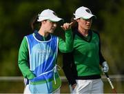 20 August 2016; Leona Maguire, right, of Ireland with her sister and caddy Lisa on the 5th tee box during the final round of the women's golf at the Olympic Golf Course, Barra de Tijuca, during the 2016 Rio Summer Olympic Games in Rio de Janeiro, Brazil. Photo by Stephen McCarthy/Sportsfile