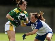 20 August 2016; Sarah Houlihan of Kerry in action against Rachel McKenna of Monaghan during the TG4 Ladies Football All-Ireland Senior Championship Quarter-Final game between Monaghan and Kerry at St Brendan's Park in Birr, Co Offaly. Photo by Sam Barnes/Sportsfile