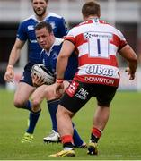 20 August 2016; Bryan Byrne of Leinster is tackled by Paddy McAllister of Gloucester during a Pre-Season Friendly game between Leinster and Gloucester at Tallaght Stadium in Tallaght, Co Dublin. Photo by Seb Daly/Sportsfile
