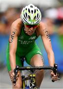 20 August 2016; Aileen Reid of Ireland competing in the Women's Triathlon at Fort Copacobana during the 2016 Rio Summer Olympic Games in Rio de Janeiro, Brazil. Photo by Ramsey Cardy/Sportsfile