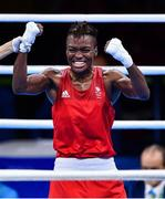 20 August 2016; Nicola Adams of Great Britain celebrates defeating Sarah Ourahmoune of France during their Women's Flyweight Final bout in the Riocentro Pavillion 6 Arena during the 2016 Rio Summer Olympic Games in Rio de Janeiro, Brazil. Photo by Stephen McCarthy/Sportsfile