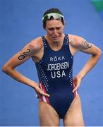 20 August 2016; Gwen Jorgensen of USA after winning the Women's Triathlon at Fort Copacobana during the 2016 Rio Summer Olympic Games in Rio de Janeiro, Brazil. Photo by Ramsey Cardy/Sportsfile
