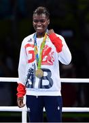 20 August 2016; Nicola Adams of Great Britain celebrates winning goal during the Women's Flyweight Final bout in the Riocentro Pavillion 6 Arena during the 2016 Rio Summer Olympic Games in Rio de Janeiro, Brazil. Photo by Stephen McCarthy/Sportsfile