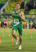 20 August 2016; Arthur Lanigan O'Keeffe of Ireland finishes in 8th place in the Men's Modern Pentathlon at the Deodora Aquatics Centre during the 2016 Rio Summer Olympic Games in Rio de Janeiro, Brazil. Photo by Brendan Moran/Sportsfile