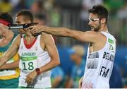 20 August 2016; Valentin Belaud of France competing in the Combined Running/Shooting round of the Men's Modern Pentathlon at the Deodora Aquatics Centre during the 2016 Rio Summer Olympic Games in Rio de Janeiro, Brazil. Photo by Brendan Moran/Sportsfile