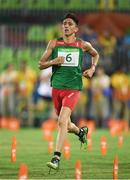 20 August 2016; Ismaeil M Hernandez Uscanga of Mexico competing in the Combined Running/Shooting round of the Men's Modern Pentathlon at the Deodora Aquatics Centre during the 2016 Rio Summer Olympic Games in Rio de Janeiro, Brazil. Photo by Brendan Moran/Sportsfile