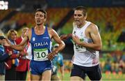 20 August 2016; Valentin Prades, right, of France finished in 4th place in the Men's Modern Pentathlon at the Deodora Aquatics Centre during the 2016 Rio Summer Olympic Games in Rio de Janeiro, Brazil. Photo by Brendan Moran/Sportsfile