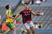 21 August 2016; Robert Finnerty of Galway celebrates scoring a goal in the 5th minute during the Electric Ireland GAA Football All-Ireland Minor Championship Semi-Final game between Donegal and Galway at Croke Park in Dublin. Photo by Ray McManus/Sportsfile