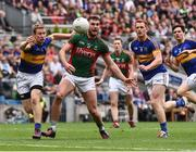 21 August 2016; Aidan O'Shea of Mayo in action against Brian Fox and George Hannigan  of Tipperary during the GAA Football All-Ireland Senior Championship Semi-Final game between Mayo and Tipperary at Croke Park in Dublin. Photo by David Maher/Sportsfile
