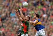 21 August 2016; Aidan O'Shea of Mayo in action against Ciarán McDonald of Tipperary during the GAA Football All-Ireland Senior Championship Semi-Final game between Mayo and Tipperary at Croke Park in Dublin. Photo by Eóin Noonan/Sportsfile