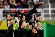 21 August 2016; The Ukraine team competing during the Rhythmic Gymnastics Group All-Around Final in the Rio Olympic Arena during the 2016 Rio Summer Olympic Games in Rio de Janeiro, Brazil. Photo by Ramsey Cardy/Sportsfile