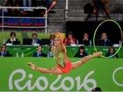 21 August 2016; The Spain team competing during the Rhythmic Gymnastics Group All-Around Final in the Rio Olympic Arena during the 2016 Rio Summer Olympic Games in Rio de Janeiro, Brazil. Photo by Ramsey Cardy/Sportsfile