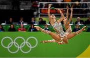 21 August 2016; The Russia team competing during the Rhythmic Gymnastics Group All-Around Final in the Rio Olympic Arena during the 2016 Rio Summer Olympic Games in Rio de Janeiro, Brazil. Photo by Ramsey Cardy/Sportsfile