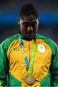 20 August 2016; Caster Semenya of South Africa after winning the Women's 800m final in the Olympic Stadium during the 2016 Rio Summer Olympic Games in Rio de Janeiro, Brazil. Photo by Ramsey Cardy/Sportsfile
