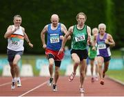 21 August 2016; Robert Bigger, 263, of Derry City Track Club, competing in the 55+ Mens 800m during the GloHealth National Master Track & Field Championship 2016 at Tullamore Harriers Stadium in Tullamore, Co Offaly. Photo by Sam Barnes/Sportsfile