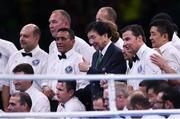 21 August 2016; AIBA President Dr Ching-Kuo Wu with referees and judges following the final boxing session at Riocentro Pavillion 6 Arena during the 2016 Rio Summer Olympic Games in Rio de Janeiro, Brazil. Photo by Stephen McCarthy/Sportsfile