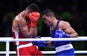 21 August 2016; Joe Joyce of Great Britain, right, in action against Tony Yoka of France during their Men's Boxing Super Heavyweight Final bout at Riocentro Pavillion 6 Arena during the 2016 Rio Summer Olympic Games in Rio de Janeiro, Brazil. Photo by Stephen McCarthy/Sportsfile