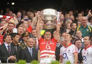 19 September 2010; Paddy O'Shea, Cork, lifts the Sam Maguire. GAA Football All-Ireland Senior Championship Final, Down v Cork, Croke Park, Dublin. Picture credit: Dáire Brennan / SPORTSFILE