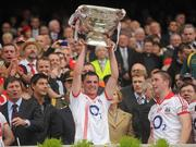 19 September 2010; Donncha O'Connor, Cork, lifts the Sam Maguire. GAA Football All-Ireland Senior Championship Final, Down v Cork, Croke Park, Dublin. Picture credit: Dáire Brennan / SPORTSFILE