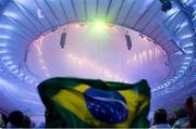 21 August 2016; A general view during the closing ceremony of the 2016 Rio Summer Olympic Games at the Maracanã Stadium in Rio de Janeiro, Brazil. Photo by Ramsey Cardy/Sportsfile