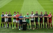 23 August 2016; Players, from left, LLoyd Williams of Cardiff Blues, Tommy Bowe of Ulster, Dan Lydiate of Ospreys, Alessandro Zanni of Benneton Treviso, Billy Holland of Munster, Isa Nacewa of Leinster, John Muldoon of Connacht, George Biagi of Zebre, Jonny Gray of Glasgow Warriors, Lewis Evans of Newport Gwent Dragons, Stuart McInally of Edinburgh and Ken Owen of Scarlets in attendance at the launch of the Guinness PRO12 2016/17 Championship at the Aviva Stadium in Dublin. Photo by Sam Barnes/Sportsfile