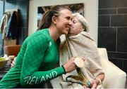 23 August 2016; Annalise Murphy, left, of Ireland, who won a silver medal in the Women's Laser Radial Medal race at the 2016 Rio Summer Olympic Games in Rio de Janeiro, with her grandmother Betty Murphy after a press conference on her return at Dublin Airport, Dublin. Photo by Seb Daly/Sportsfile