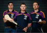 23 August 2016; Kilmacud Crokes hurlers Niall Corcoran, centre, Sean McGrath, left, and Ryan Dwyer during the launch of the Kilmacud Crokes Hurling 7s sponsored by Applegreen at Croke Park in Dublin. Photo by Cody Glenn/Sportsfile
