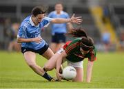 27 August 2016; Rachel Kearns of Mayo in action against Sinéad Aherne of Dublin during the TG4 Ladies Football All-Ireland Senior Championship Semi-Final game between Dublin and Mayo at Kingspan Breffni Park in Cavan. Photo by Piaras Ó Mídheach/Sportsfile