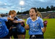 27 August 2016; Lyndsey Davey of Dublin celebrates after the TG4 Ladies Football All-Ireland Senior Championship Semi-Final game between Dublin and Mayo at Kingspan Breffni Park in Cavan. Photo by Piaras Ó Mídheach/Sportsfile