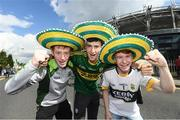 28 August 2016; Kerry supporters from left to right, Calf Foley, Sean Langford and Alex O'Connor from Mid Kerry ahead of the GAA Football All-Ireland Senior Championship Semi-Final game between Dublin and Kerry at Croke Park in Dublin. Photo by Stephen McCarthy/Sportsfile