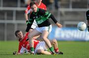 21 November 2010; Paul Kerrigan, Nemo Rangers, in action against Tommy Connors, Stradbally. AIB GAA Football Munster Club Senior Championship Semi-Final, Nemo Rangers v Stradbally, Pairc Ui Rinn, Cork. Picture credit: Brendan Moran / SPORTSFILE