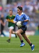 28 August 2016; Oisín Doyle, St Joseph's NS, Hacketstown, Carlow, representing Dublin, in action during the INTO Cumann na mBunscol GAA Respect Exhibition Go Games at the GAA Football All-Ireland Senior Championship Semi-Final game between Dublin and Kerry at Croke Park in Dublin. Photo by Ramsey Cardy/Sportsfile