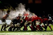 26 November 2010; Steam rises from both packs during the early stages of the game. Celtic League, Dragons v Munster, Rodney Parade, Newport, Wales. Picture credit: Steve Pope / SPORTSFILE