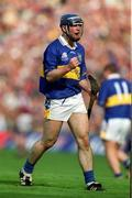 9 September 2001;  Tipperary's Eoin Kelly celebrates scoring a point during the Tipperary v Galway, All-Ireland Senior Hurling Championship Final, Croke Park, Dublin. Picture credit; Brendan Moran / SPORTSFILE
