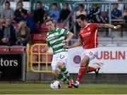 2 September 2016; Billy Dennehy of St Patricks Athletic in action against Simon Madden of Shamrock Rovers during the SSE Airtricity League Premier Division match between Shamrock Rovers and St Patrick's Athletic in Tallaght Stadium in Tallaght, Dublin.  Photo by Sam Barnes/Sportsfile