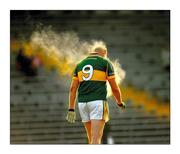24 January 2010; Agent Orange. Haloed by a cloud of his own steam, Kerry's Micheál Quirke leaves the field after his side's McGrath Cup win over Tipperary. Picture credit: Stephen McCarthy / SPORTSFILE
