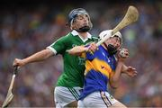4 September 2016; Ger Browne of Tipperary in action against Brian Nash of Limerick during the Electric Ireland GAA Hurling All-Ireland Minor Championship Final in Croke Park, Dublin.  Photo by Ray McManus/Sportsfile