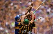 4 September 2016; Tipperary players John McGrath and Jason Forde contest for possession with Shane Prendergast and Cillian Buckley of Kilkenny during the GAA Hurling All-Ireland Senior Championship Final match between Kilkenny and Tipperary at Croke Park in Dublin. Photo by Brendan Moran/Sportsfile