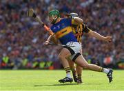 4 September 2016; James Barry of Tipperary in action against Richie Hogan of Kilkenny during the GAA Hurling All-Ireland Senior Championship Final match between Kilkenny and Tipperary at Croke Park in Dublin. Photo by Ray McManus/Sportsfile