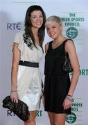 22 December 2010; Irish athletes Bryony Treston, left, and Becky Woods on arrival at the RTÉ Sports Awards. RTÉ Sports Awards 2010, RTÉ Television Centre, Donnybrook, Dublin. Picture credit: Brendan Moran / SPORTSFILE
