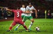 5 September 2016; Jon Walters of Republic of Ireland in action against Dusko Tosic of Serbia during the FIFA World Cup Qualifier match between Serbia and Republic of Ireland at the Red Star Stadium in Belgrade, Serbia. Photo by David Maher/Sportsfile