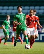 6 September 2016; Thomas O'Connor of Republic of Ireland in action against Sandi Lovric of Austria during the U19 International Friendly match between Republic of Ireland and Austria at Tallaght Stadium in Tallaght, Dublin. Photo by Seb Daly/Sportsfile