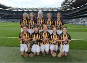 4 September 2016; The Kilkenny team, back row, left to right, Caoimhe Mulvey, Colehill NS, Colehill, Longford, Kate Fitzgerald, Kilmurry NS, Sixmilebridge, Clare, Ciara Butler, Glynn NS, Enniscorthy, Wexford, Róisín Maguire, Scoil N Caoimhín Naofa, Philipstown, Dunleer, Louth, Lilian Keane, Scoil Naomh Brighde, Tooreen, Mayo, front row, left to right, Sophie Bermingham, Rathcoyle NS, Rathdangan, Kiltegan, Wicklow, Aoibhín Randles, Glenswilly NS, Letterkenny, Donegal, Ciara Fitzsimons, St Patrick's PS Ballygalget, Portaferry, Down, Clara Keane,  St Oliver Plunkett NS, Newcastle, Athenry, Galway, Rebecca Gorman, Assumption Senior Girls School, Walkinstown, Dublin, ahead of the GAA Hurling All-Ireland Senior Championship Final match between Kilkenny and Tipperary at Croke Park in Dublin. Photo by Daire Brennan/Sportsfile