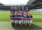 4 September 2016; The Tipperary team, back row, left to right, Anna Geary, Ballygarvan NS, Ballygarvan, Cork, Kathlyn Stack, Scoil Muire Gan Smál, Lixnaw, Kerry, Laoise Mimnagh, Gaelscoil Uí Fhiaich, Maigh Nuad, Kildare, Ava Maloney, Shinrone NS, Shinrone, Birr, Offaly, front row, left to right, , Chloe Hughes, Scoil Maelruain Senior, Tallaght, Dublin, Lauren Healy, Ballinakill NS, Ballinakill, Laois, Saoirse Ní Bhraonáin, Gaelscoil Bharra, Cabrach, Dublin, Martha Walsh, St Teresa's PS, Lurgan, Armagh, Sophia Erskine, St Anne's PS, Finaghy, Antrim, Alex Connole, St Joseph's NS, Ballybrown, Clarina, Limerick, ahead of the GAA Hurling All-Ireland Senior Championship Final match between Kilkenny and Tipperary at Croke Park in Dublin. Photo by Daire Brennan/Sportsfile