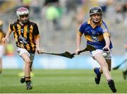 4 September 2016; William Beresford, Garranbane NS, Dungarvan, Waterford, representing Tipperary, in action against Oisín Smith, Bruskey NS, Bruskey Ballinagh, Cavan, representing Kilkenny, during the INTO Cumann na mBunscol GAA Respect Exhibition Go Games at the GAA Hurling All-Ireland Senior Championship Final match between Kilkenny and Tipperary at Croke Park in Dublin. Photo by Eóin Noonan/Sportsfile